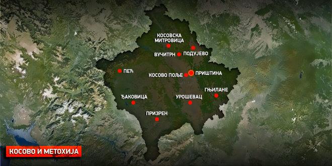 косово, србија, косово, и, метохија, мапа