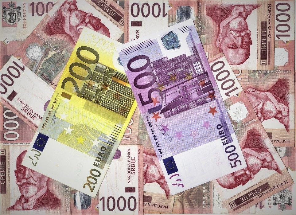 evro, dinar, kurs, valuta,