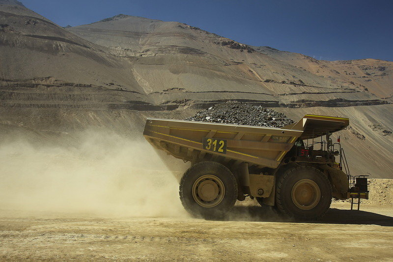 rudnik, kamion, damper
