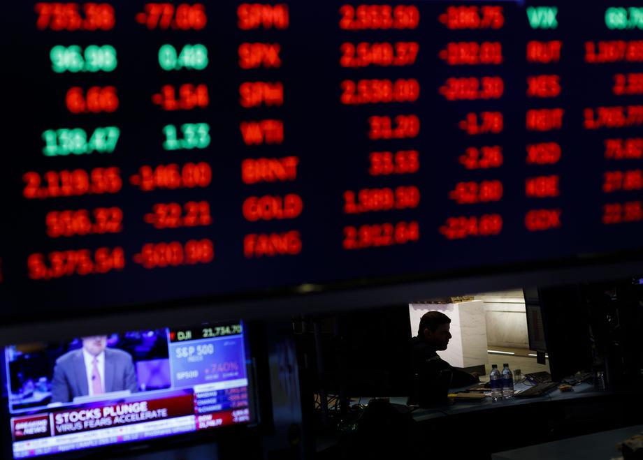 ekonomija, finansije, berza, pad, gubitak, koronavirus, 44