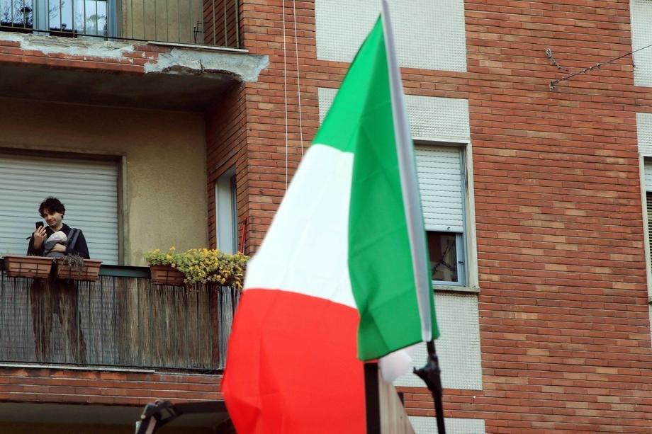italija, koronavirus, zastava