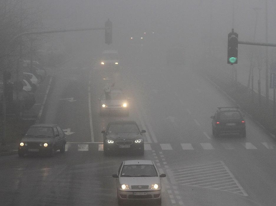 zima, magla, saobracaj, automobili, 40