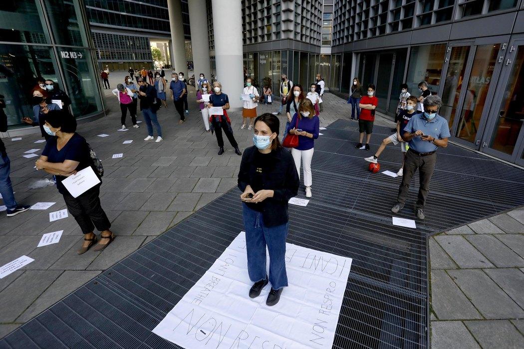 italija, protest, lekar, studenti